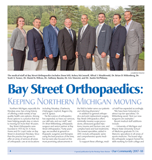 Bay Street Orthopaedics:  Keeping Northern Michigan Moving